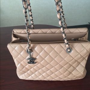 New Authentic Chanel Beige Caviar Leather